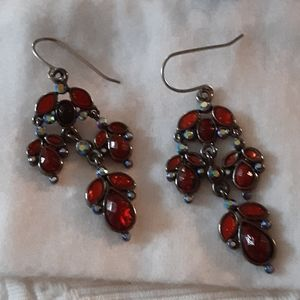 Earrings red statements